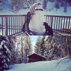 Snowman!  #winter #trekkingintothesnow #falchettolovers #trekking #valdinona4zampe ##falchettostaff #falchetto #amore #snowflake #snow #snowman #neve @visittrentino @trentinodascoprire @valdinon