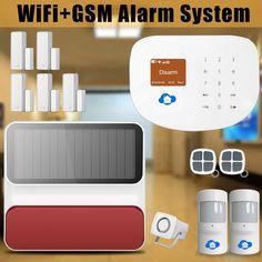 Etiger Etiger Smart Home WIFI/GSM Home Security Burglar Alarm System Smoke detector + Outdoor Solar Strobe Siren