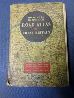 Road Atlas  Map Book  English  Found In by BookShopBiblioteque, €15.00