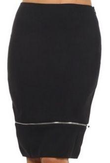 Zipper Hem Skirt