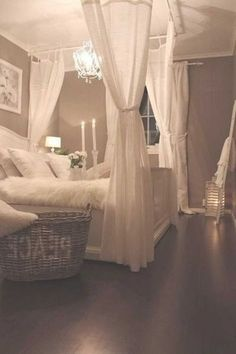 A romantic bedroom is soft: soft color, soft fabric, soft lines. Here's how to capture the look for your own room. A romantic bedroom is soft: soft color, soft fabric, soft lines. Here's how to capture the look for your own room. Romantic Bedroom Design, Romantic Bedrooms, Luxurious Bedrooms, Romantic Beds, Romantic Bedding, Romantic Night, Romantic Getaway, Couple Bedroom, Bedroom Ideas Master For Couples