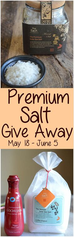 Kimchimari is holding a Give Away drawing for two Premium Korean Sea Salts.  Learn all about Korean salt and enter to win by visiting www.kimchimari.com.  Entries accepted from May 18 thru June 5, 2016.  |  Kimchimari.com