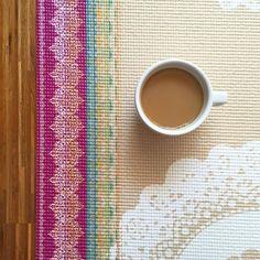 Stretch break! + a very necessary cup of joe ☕️ #laviebohemeyoga #printedyogamats #coffeeplease
