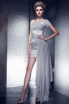 A-Line One-Shoulder Asymmetry Skirt Dasha's Cocktail/Prom Dress Evening Dresses 2014- ericdress.com 10188947