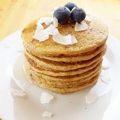 Neues Rezept jetzt auf dem Blog HaferflockenPancakes Vegan Glutenfrei Zuckerfreihellip