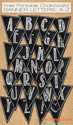 Printable Classic Alphabet Banner Pennants 100