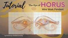 Wire Wrapping Tutorial - The Eye of Horus Moonstone Pendant Handmade Wire Jewelry, Etsy Jewelry, Copper Jewelry, Jewelry Shop, Wire Wrapped Earrings, Wire Wrapped Pendant, Wire Wrapping Tutorial, Garnet And Gold, Eye Of Horus