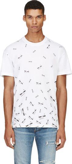 McQ Alexander Mcqueen - White Razor Blade Print T-Shirt