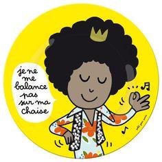 Assiette en mélamine Prince les bonnes manières à table illustrée par Soledad : Decoclico