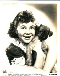 0 young Jane Withers with puppy Hollywood Actresses, Actors & Actresses, Jane Withers, Classic Hollywood, Old Photos, Comebacks, Singers, Behind The Scenes, The Past
