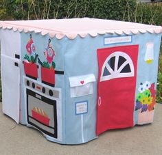 Etsy play tent (folding table) - so cute. . . I should learn to sew so I can make my own!