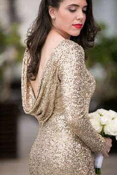 Sequined bridesmaid dress?? Yes please!
