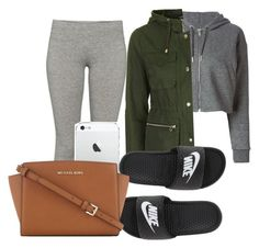 """""""Untitled #1163"""" by dxrtysxriteqxeen ❤ liked on Polyvore featuring Golden Goose, Topshop, TNA, NIKE and MICHAEL Michael Kors"""