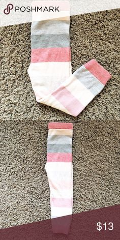 g a p - s w e a t e r - l e g g I n g s g a p - s w e a t e r - l e g g I n g s . . . s i z e 3T - NWOT adorable pink and grey stripes.  Soft comfy material for your little one! GAP Bottoms Leggings