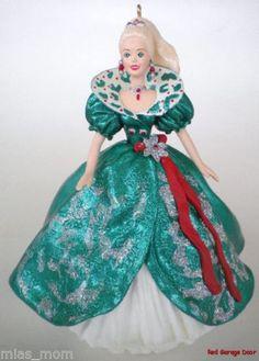 Holiday Barbie Green Dress Ball Gown Hallmark Ornament Keepsake 1995 Collector | eBay