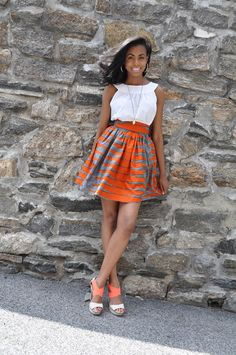 African Print Skirt- The Laura Skirt