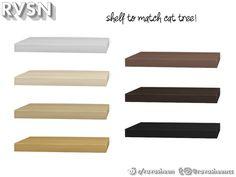 RAVASHEEN's Meow-dern Skinny Shelf Cat Shelves, Shelf, Sims 4 Clutter, Sims 4 Build, Cat Tree, Decorative Items, Skinny, Design, Shelving