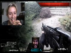 Real Life First Person Shooter (Chatroulette version) | We created a live action first-person zombie shooter in our garden - then invited unsuspecting people on chatroulette, omegle and skype to take control...
