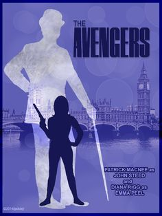 The Avengers Poster   Collage by jackiejr #theavengers  #emmapeel  #johnsteed
