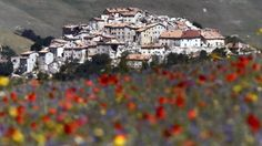As you approach Castelluccio, you can see the shattered buildings more reminiscent of a war zone.