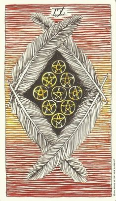 Nine of Pentacles - a comfortable and plentiful next, home. being measured and modest as an act of self control. abundance. What is your current home like? What are you getting from the foods you are eating. are your activities making you feel capable and giving you a sense of vitality.