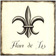 "Main inspiration for a fleur de lis tattoo - I love the ""sharpness"" of it"