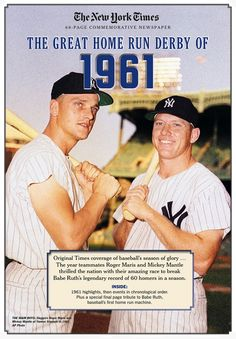 12033606df9 Mickey Mantle and Roger Maris of the New York Yankees were locked in a home  run
