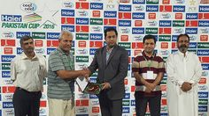 President PDCA Mr. Saleem Karim at Man of the Match Ceremony of Pakistan Cup at Faisalabad.