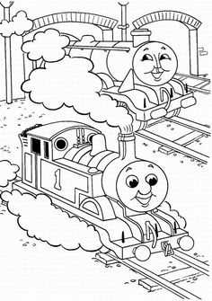 Two Thomas Coloring Page