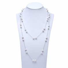 100% Real Freshwater Pearl High Quality Women Jewelry Long Necklace For Christmas Gifts