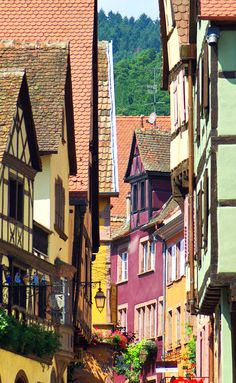 The village of Riquewihr in Alsace. France