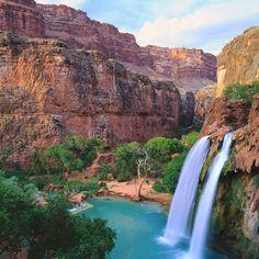 desert water fall