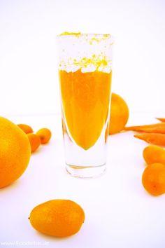 Ein echter Powerdrink! Ein Smoothie aus Orangen, Kumquats, Möhren und Kokosmilch, bei dem ein Energieschub garantiert ist! Dazu schmeckt er noch köstlich und ist gesund!