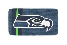 Seattle Seahawks NFL Shell Mesh Wallet by Little Earth. $30.95. The Shell Mesh Wallet can function as a mini purse for a dinner out or a wallet that goes into a larger bag. Full of features such as 5 credit card pockets clear ID sleeve zip change pocket and two full-length pockets this wallet is a winner at the game or any time!