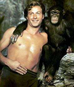 Lex Barker born May 8, 1919  Died May 11, 1973 aged 54 RIP  Photo: Barker's first appearance as Edgar Rice Burroughs' ape-man in Tarzan's Magic Fountain (1957)