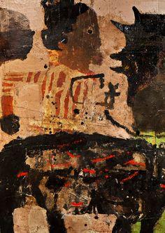 "Lyle Carbajal ""Scene from Daugavpils"" (detail) 48"" x 48"" - 2012 collection of Mark Rothko museum Dünaburg Latvia"