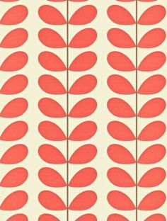 Classic Stem  is taken from Orla Kiely's Orla Kiely Wallpapers wallpaper collection.