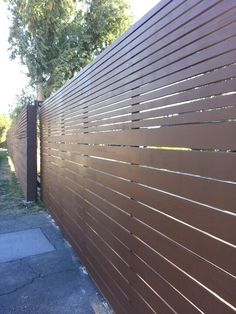 Ultra modern automatic driveway gate - clear redwood w steel frame 16 ft x 6 ft