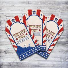 Printable vintage inspired circus thank you tags! #thankyou #circus
