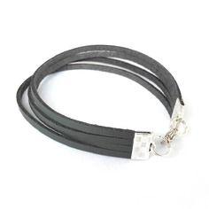 Bracelet pour homme en simili cuir