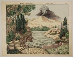 Vulkan (Hintergrund). Volcan. (fond). No. 23.
