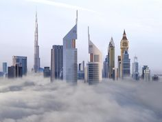 Check these world class sky scraping towers of Dubai