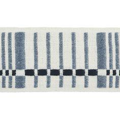 Indigo, Dark Blue, Blue And White, Scandinavian Modern, Schumacher, Cool Rugs, Window Treatments, Tape, Weaving