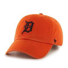 8e0b025021d Detroit Tigers 47 Brand Orange Clean Up Adjustable Strapback Slouch Hat Cap
