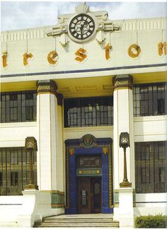 The original Art Deco frontage of The Firestone Building in London - Sadly now demolished   :-(