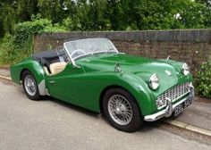 """drsnp: """"Thursday Car of the Week: Triumph TR3 that Silk Regimental posted. I've saved some of his posts as I think they're wonderful. Plus the open roadster goes with my tie theme today! """""""