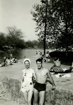 Barton Springs in Austin, Texas, hasn't changed a bit, but fashion sure has. Anne Burchart Boucher and Billy Sunday hit the pool on June 5, 1952.