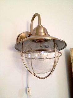 wall sconces converted from hard wire to plug in exposed conduit rh pinterest com Built in Wall Sconce Switch Brass Wall Sconce