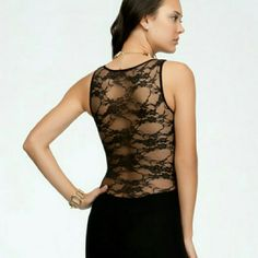 BEBE.sheer lace shirt Stunning sheer floral patterned tank.Looks great with a fitted black tank top underneath.Great fit&lenght. bebe Tops