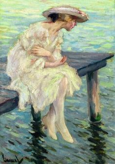 Evening By the Lake - Edward Cucuel